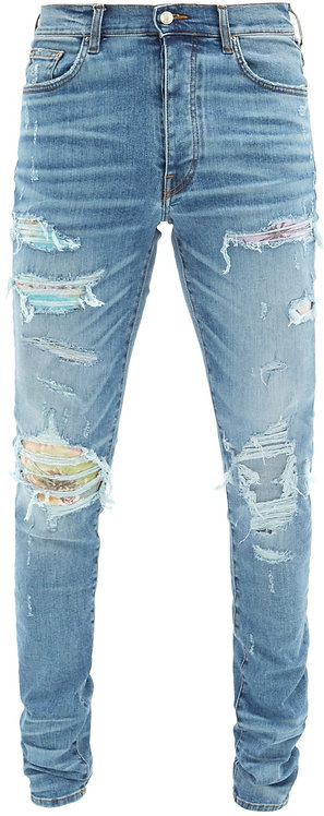 Amiri Floral Patch Jeans