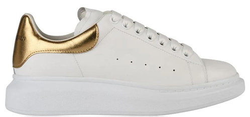 Alexander McQueen Oversized Trainers - White/Gold