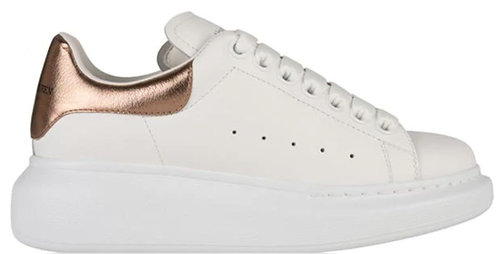 Alexander McQueen Oversized Trainers - White/Rose Gold