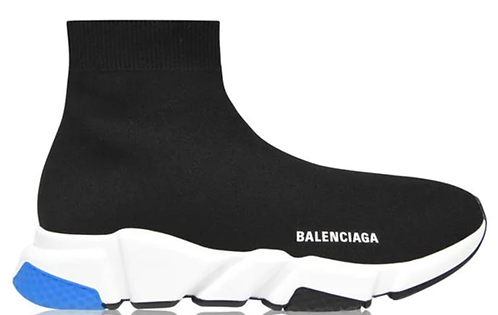 Balenciaga Speed Sock Trainers - Black / White / Blue