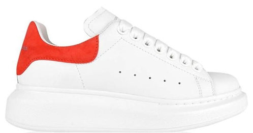 Alexander McQueen Oversized Trainers - White/Red