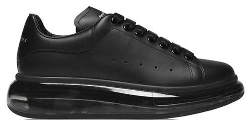 Alexander McQueen Women's Oversized Clear Sneaker - Black/Black
