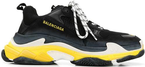 9d5ba10ce5e2 Balenciaga Triple S Sneaker - Black   Yellow
