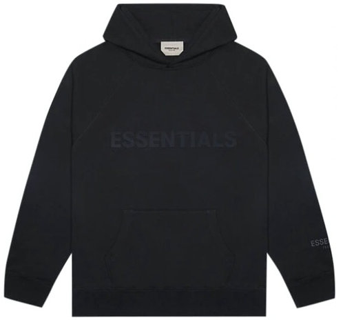 Fear of God Essentials Pullover - Stretch Limo/ Black