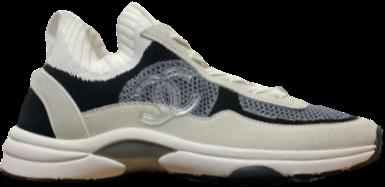 Chanel Navy / Grey Sock CC Runner