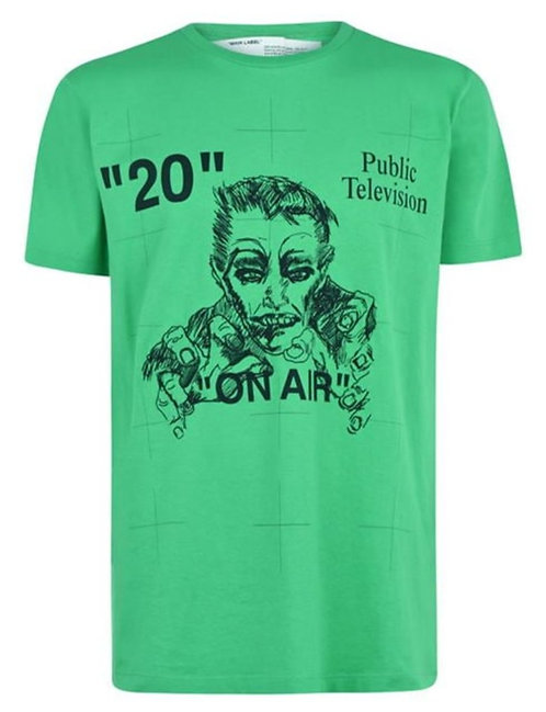 Off-White Mirko Artist T-Shirt / Green