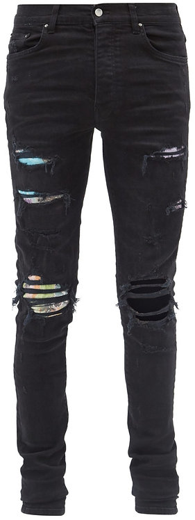 Amiri Black Rainbow Cotton Jeans