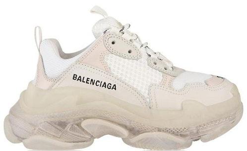 Balenciaga Triple S Clear Sole Trainers - Blanc
