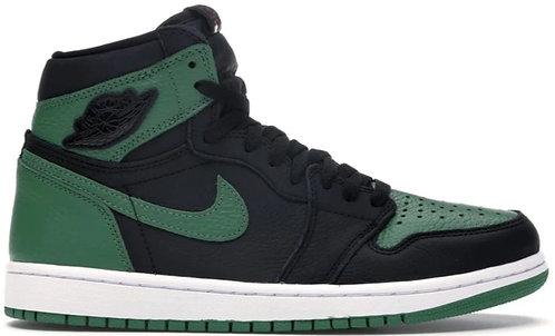 Nike Jordan 1 High 'Pine Green' Black GS