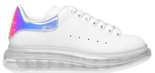 Alexander McQueen Oversized Trainers - White/Silver