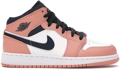 Nike Jordan 1 Mid 'Pink Quartz' GS
