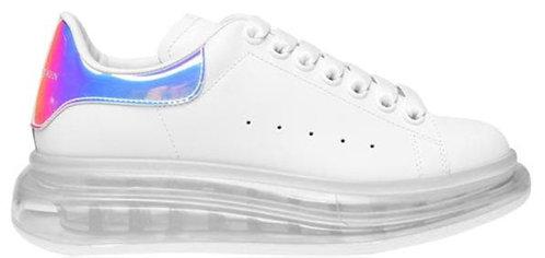 Alexander McQueen Women's Oversized Clear Sneaker - White/Met