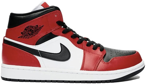 Nike Jordan 1 Mid 'Chicago Black Toe'