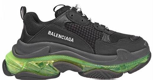 Balenciaga Triple S Clear Sole Trainers - Black / Yellow