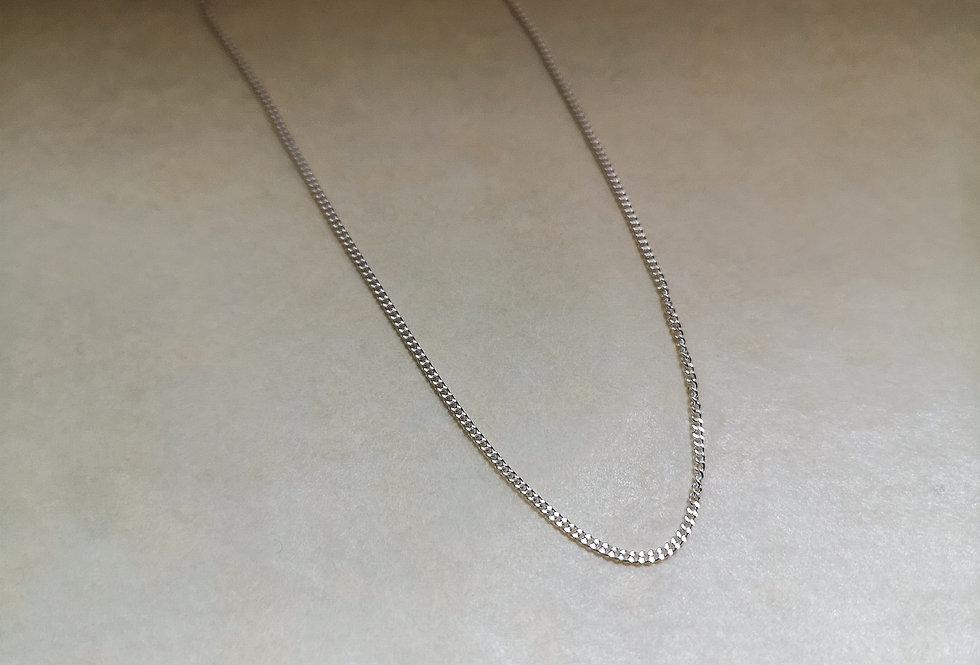 Fine diamond cut curb chain