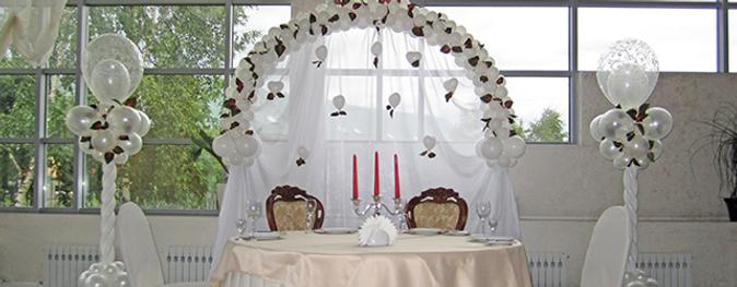 Оформление шарами в Воскресенске ресторан Аристократ