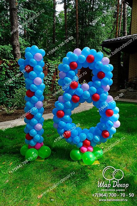 Фигуры из шаров на детское день рождения 18 лет в Москва, Воскресенск, Раменское, Коломна, Егорьевск, Гжель, Ногинск, Люберцы, Ногинск