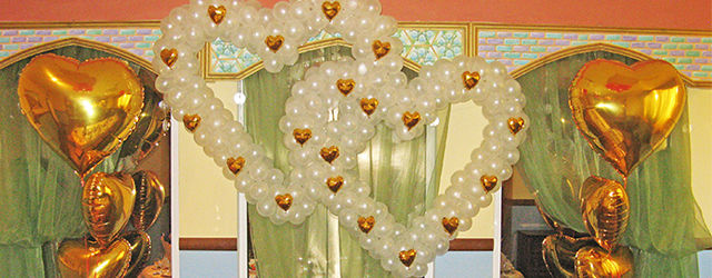 Оформление шарами в Воскресенске ресторан Континент