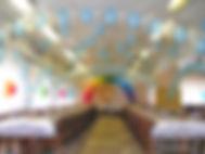 Оформление шарами в Белоозерский, столовая Химмаш
