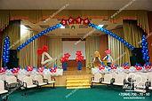 Оформление шарами выпускной, последний звонок Гимназия Бронницы