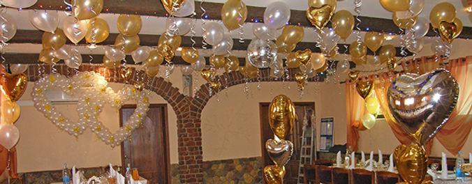 Оформление шарами в Воскресенске кафе Свеча