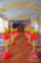 Оформление шарами выпускной, последний звонок Школа №13 Цюрупы
