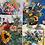 "Thumbnail: ""Flourish"" Floral Greeting Card Set of 4"