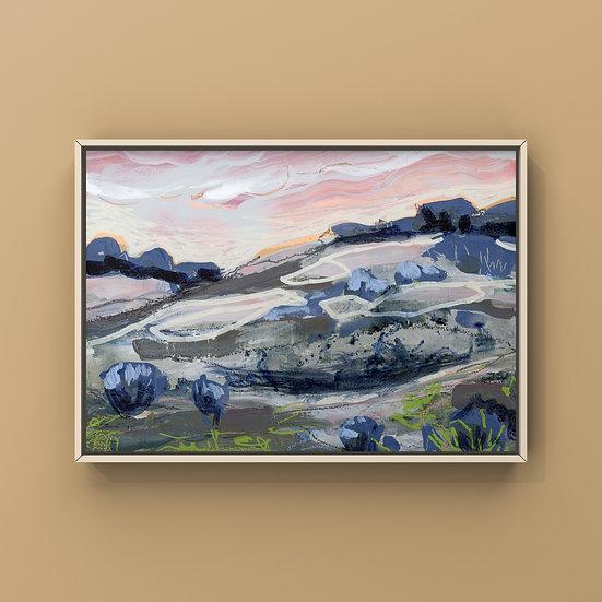 "Original Painting on Panel - #16.20 Imagined Landscape 5x7"""