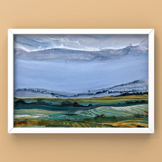 Original Painting on Canvas Board - #39.20 Imagined Landscape