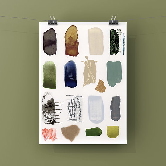"Fine Art Print - Swatch ""Glasses-Houseplant-FavouriteMug-LuckyRock"""