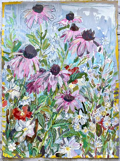 Clearance Floral On Paper, 30x23""