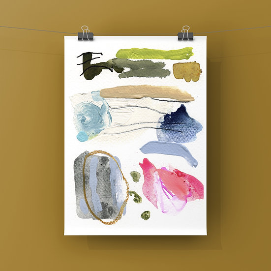 """Fine Art Print - Swatch """"Oysters, Pearls, and Pink Lipstick"""""""