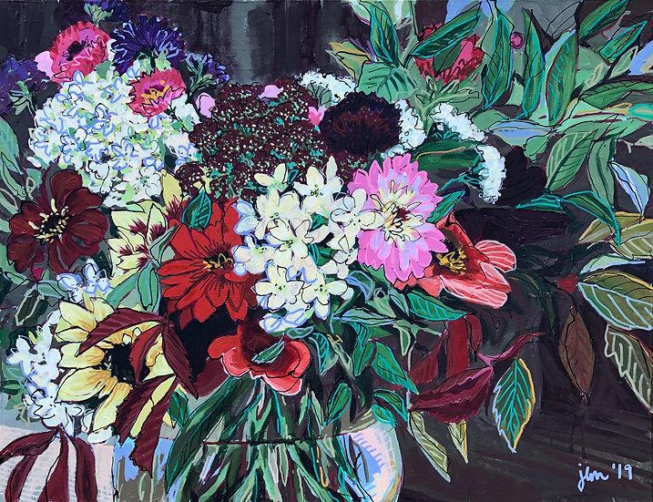 "Original Canvas Painting - Forage & Design II 20x26"""