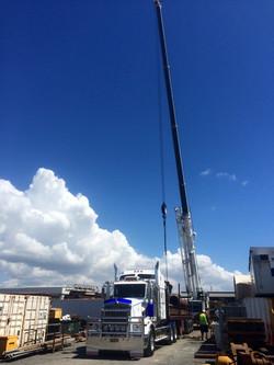 Crane Loading Hot Shot
