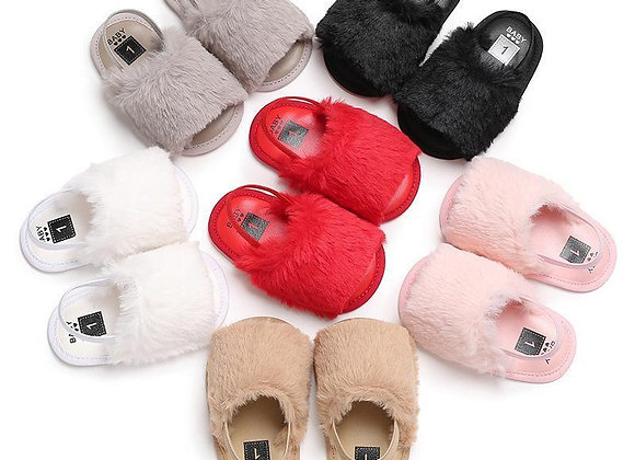 Furry Baby Slippers