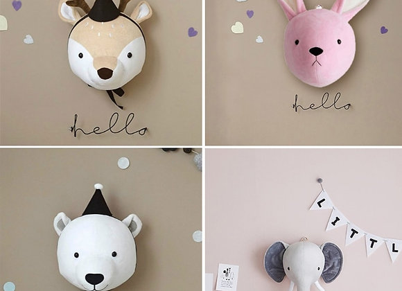 3D Animal Heads Wall Hanging