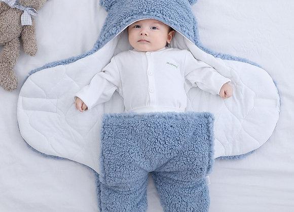 Super Soft Baby Hooded Fleece Swaddle