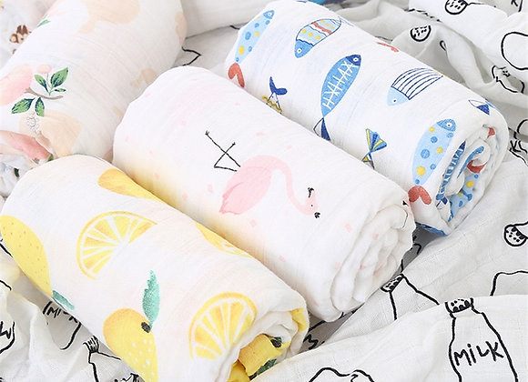 Muslin Cotton Swaddle Baby Blanket