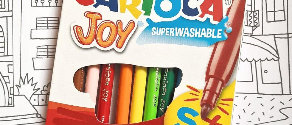 חבילת טושים - 12 יחידות carioca joy