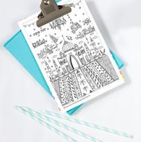 גלויות מאויירות לצביעה