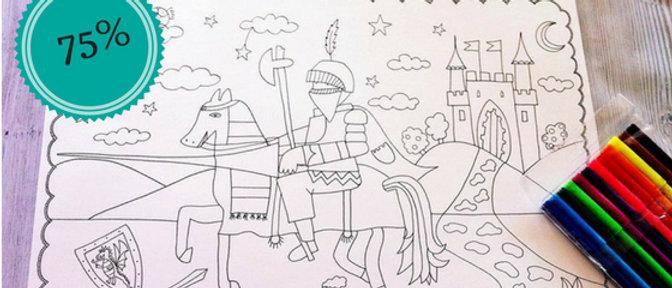 מהדורת ילדים- אביר / דף צביעה לילדים/ מה לעשות עם הילדים/ צביעה לילדים