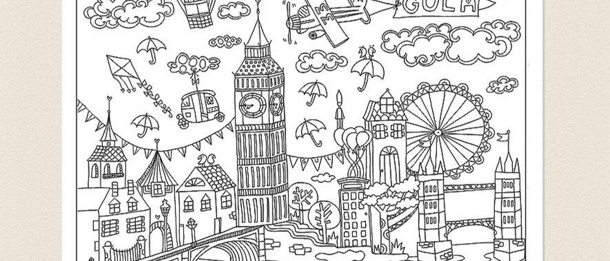 חדש חדש חדש: פוסטר לצביעה לונדון, פוסטר מאוייר לצביעה למבוגרים ולילדים