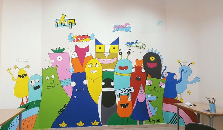 gula design ציורי קיר ופרוייקטים אמנותיים בקהילה