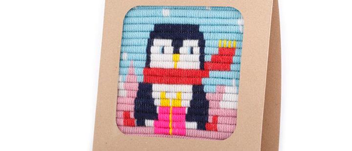 ערכת ריקמה פינגווין עם מסגרת