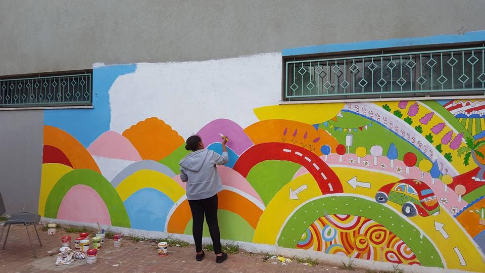 gula design ציורי קיר עם ילדים