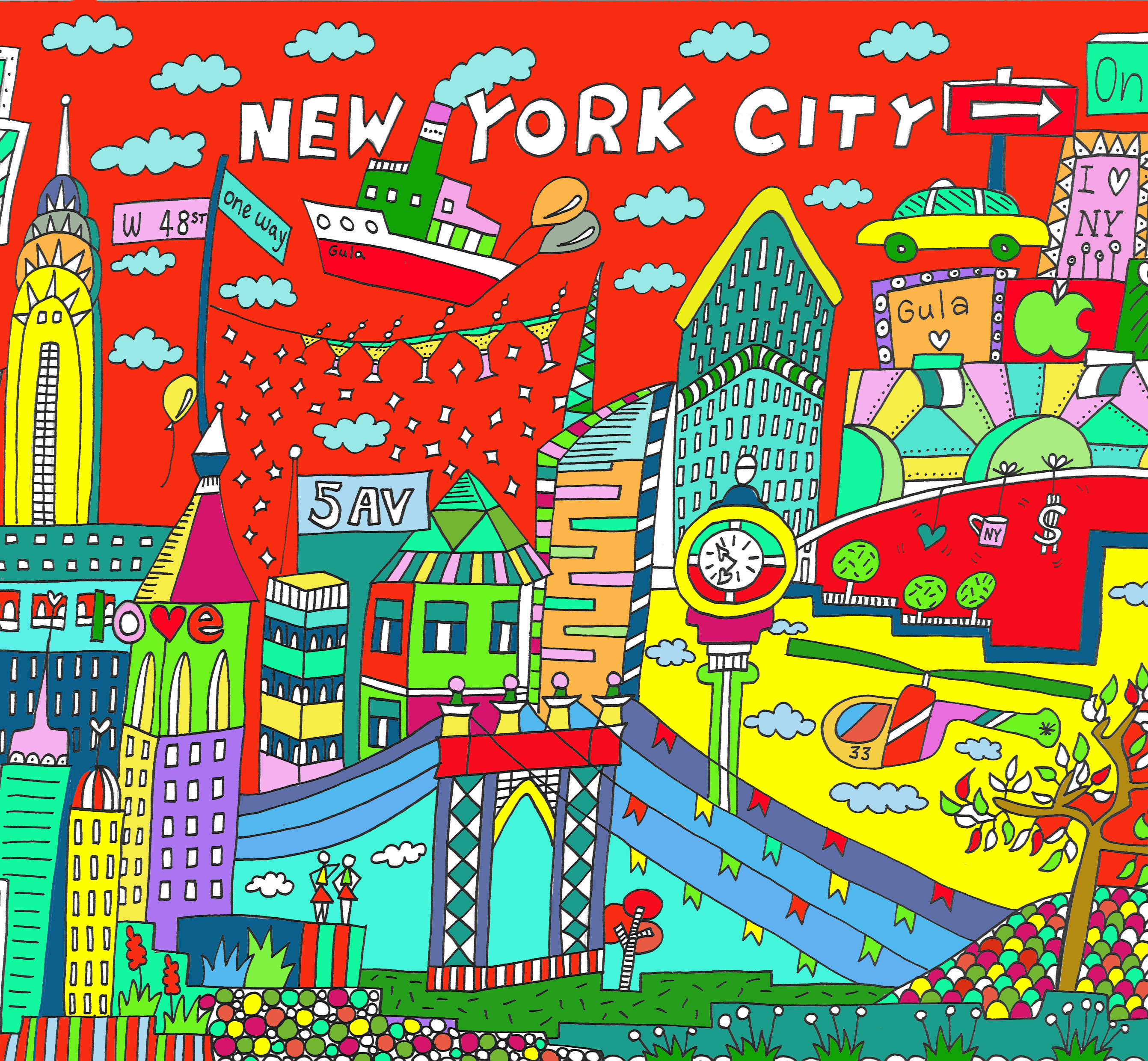 gula design: I love new york city