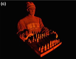 3D image of Mannequin and Chess set