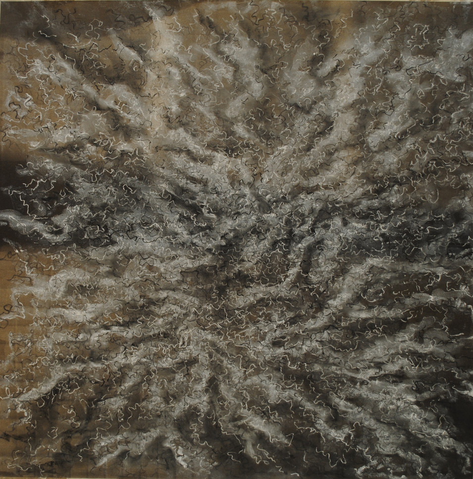 """Conditions 5 Charcoal and Pastel on Paper 23 1/2"""" x 23 5/8"""""""
