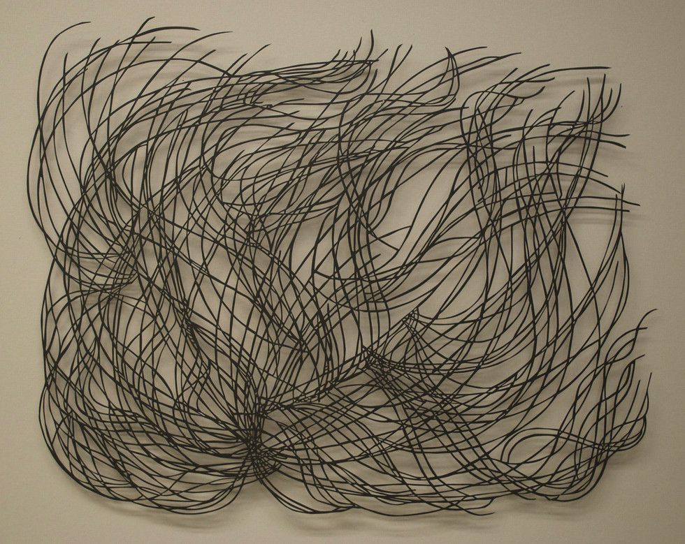 """The Network of Us  Cut Paper Drawing 31"""" x 24"""""""