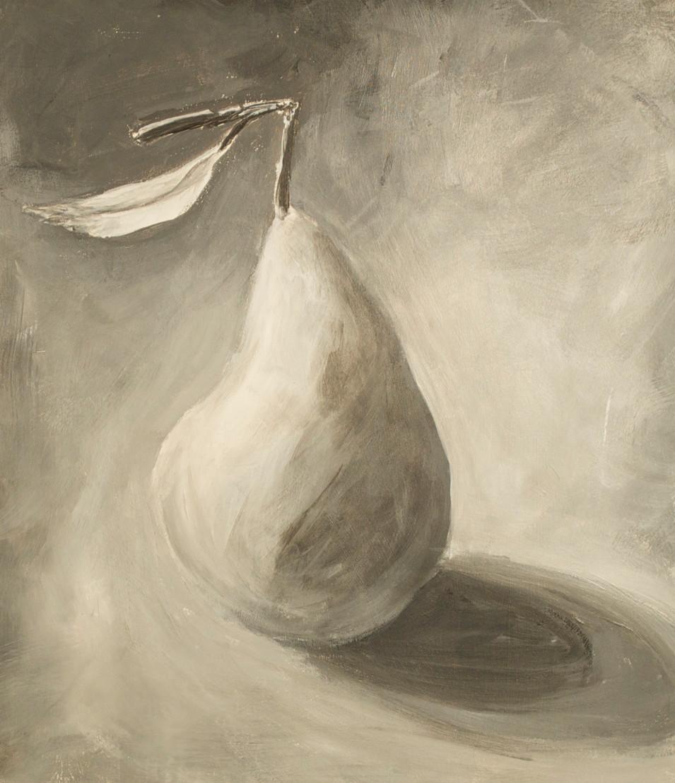 "Small Pear Acrylic Paint 11 1/2"" x 10"""